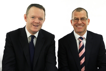 Damian Horan, Legal Director for Aspire Law, and Aspire CEO Brian Carlin