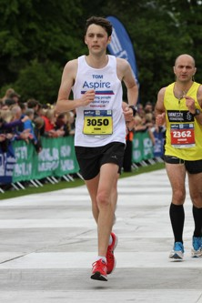 Tom running the Edinburgh Marathon