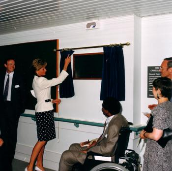 Princess Diana opening Mike Heaffey Centre