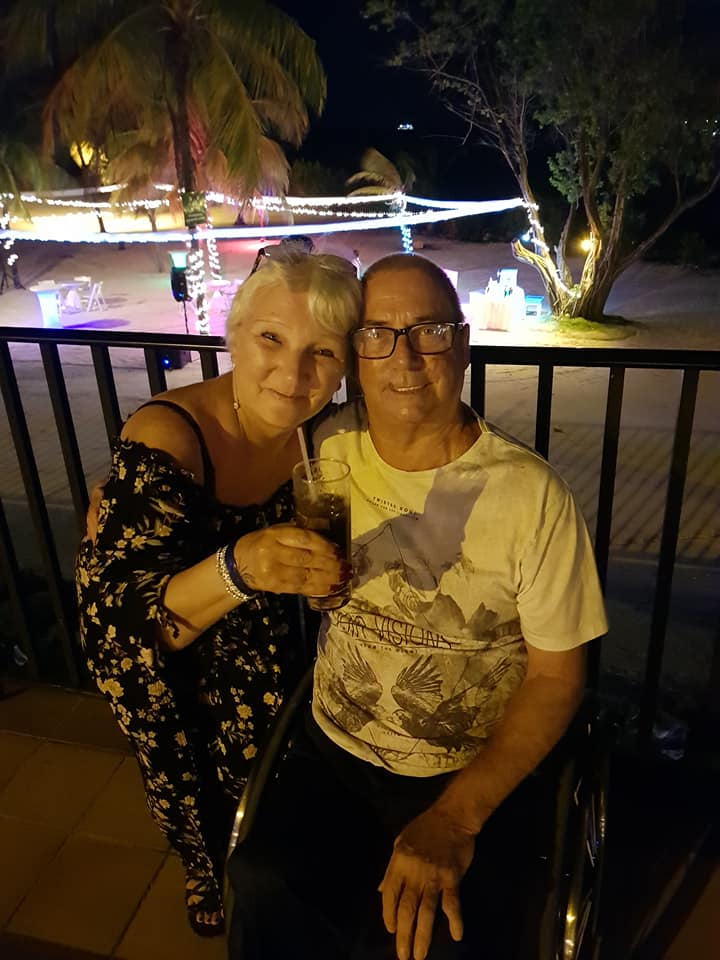 Joe and his wife in Jamaica