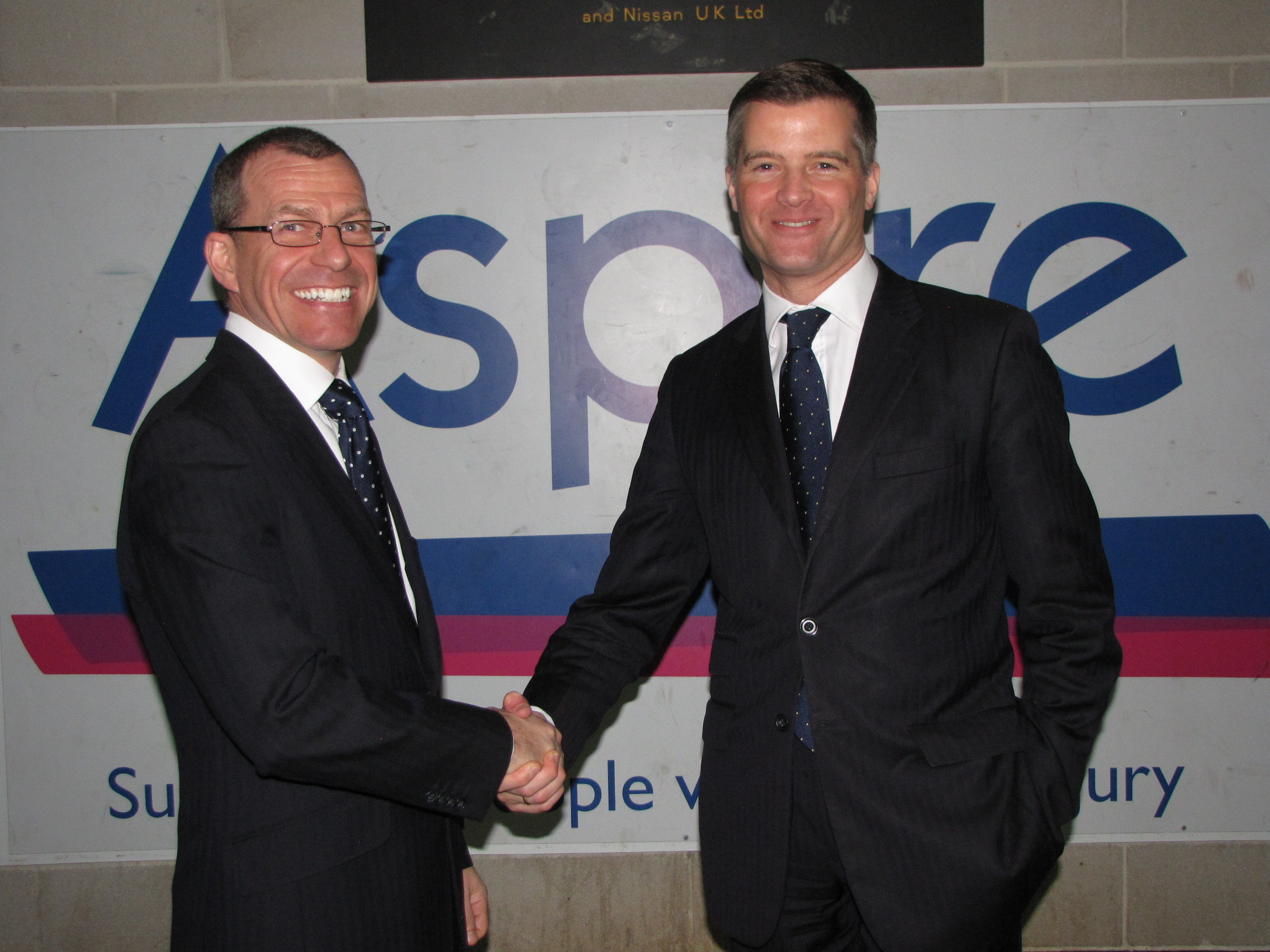 Aspire CEO Brian Carlin and Mark Harper MP