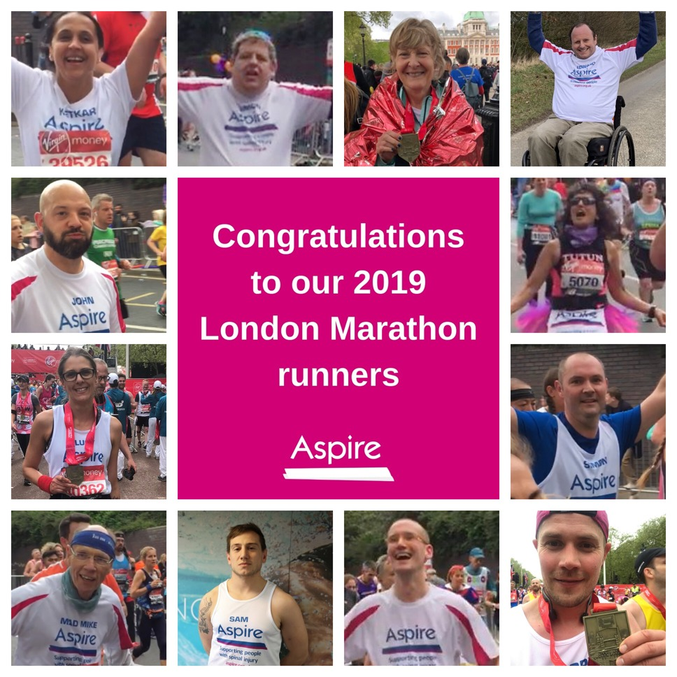 Collage of our 2019 London Marathon runners