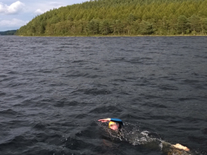 Swimmer in Loch Ness
