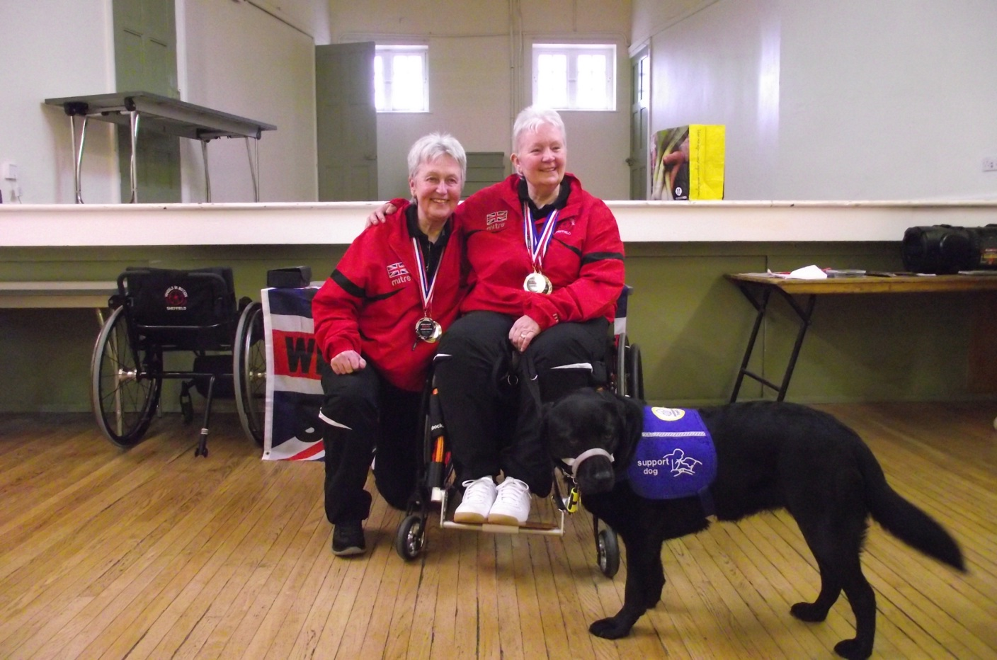 Bobbie, her partner and assistance dog