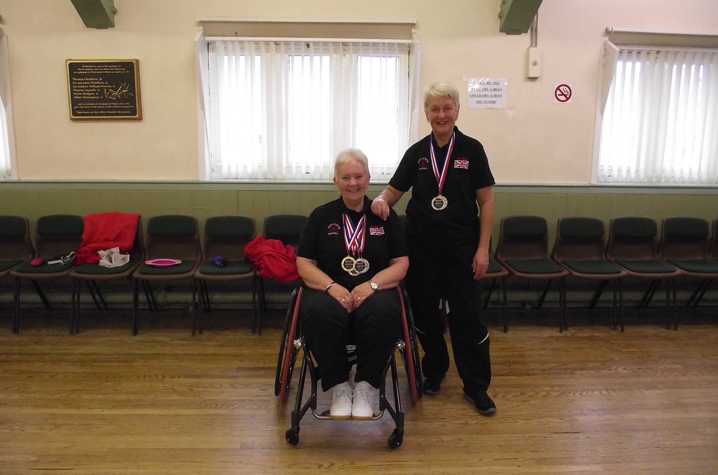 Bobbie with her coach and medals