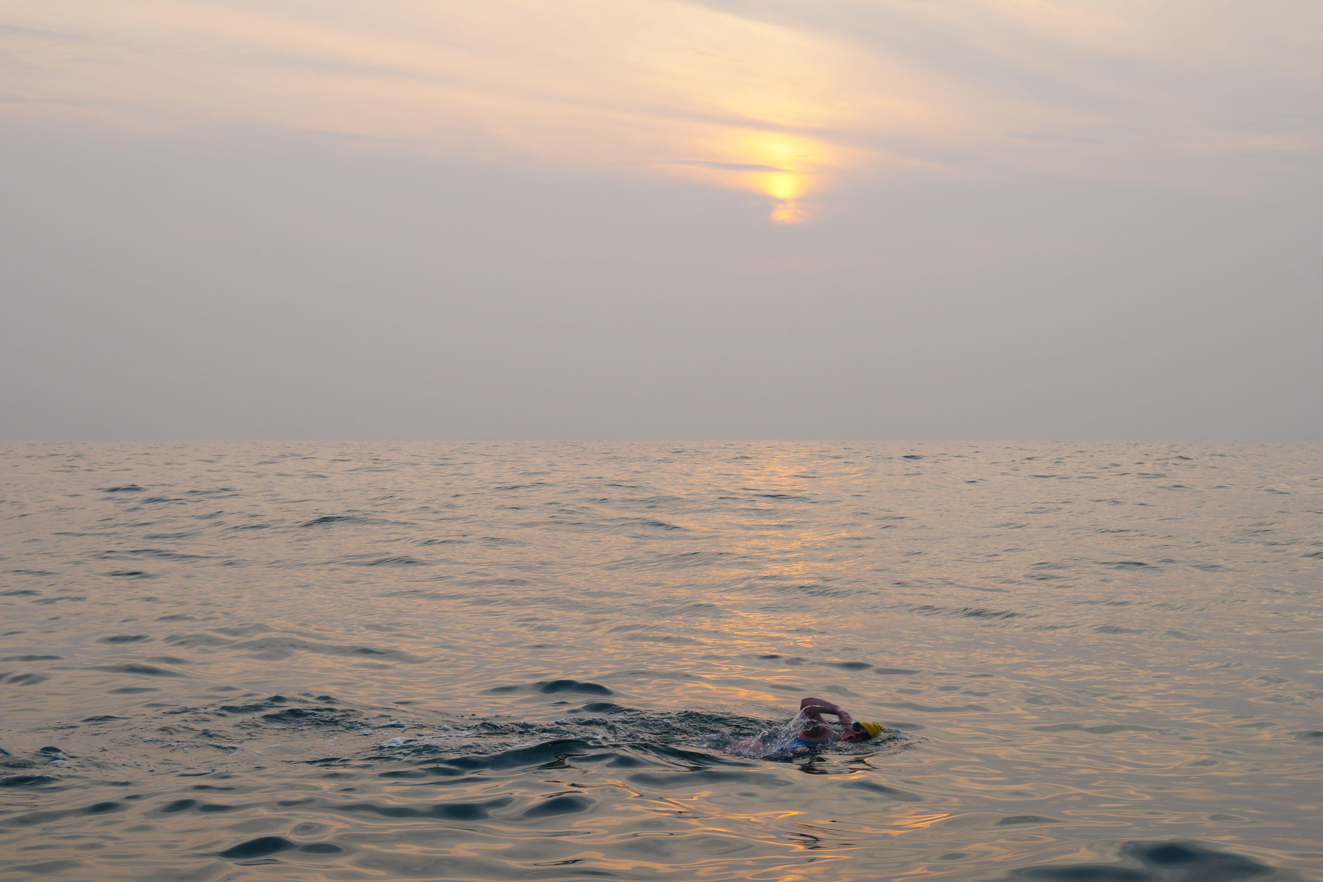 Swimmer in the Channel