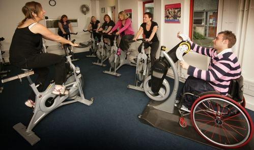 Spinning class at the Aspire Leisure Centre