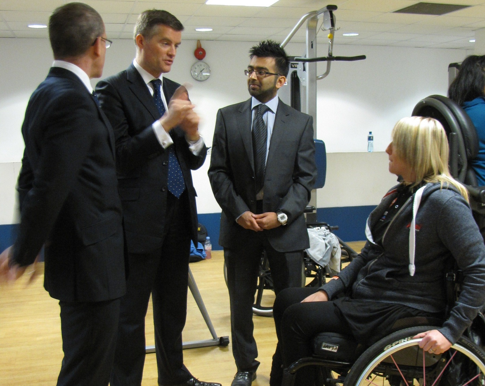 Mark Harper MP meeting InstructAbility graduate Lindsey Leggit