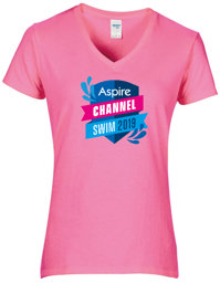 Aspire Channel Swim pink t-shirt