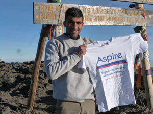 Akshay on Mount Kilimanjaro