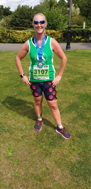 Nicola taking on the Grimsby 10k