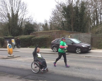 Wheelchair racer and runner