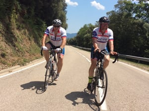Two Ride 2 Recovery cyclists
