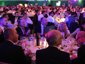Guests enjoying the Sports Quiz Dinner
