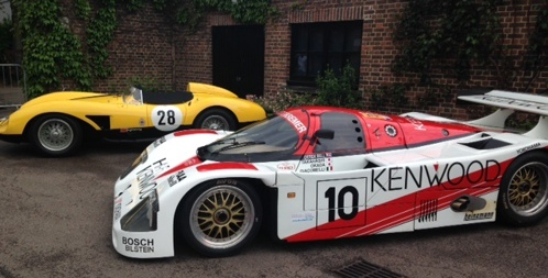 Cars at Le Mans dinner