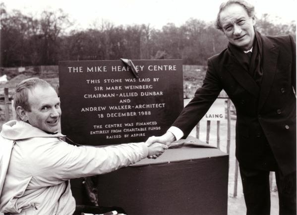 Mike Heaffey Centre plaque