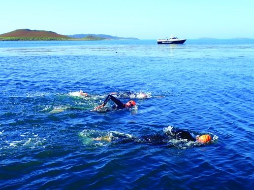 Swimmers in the Scilly Isles