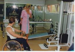 Princess of Wales in the gym
