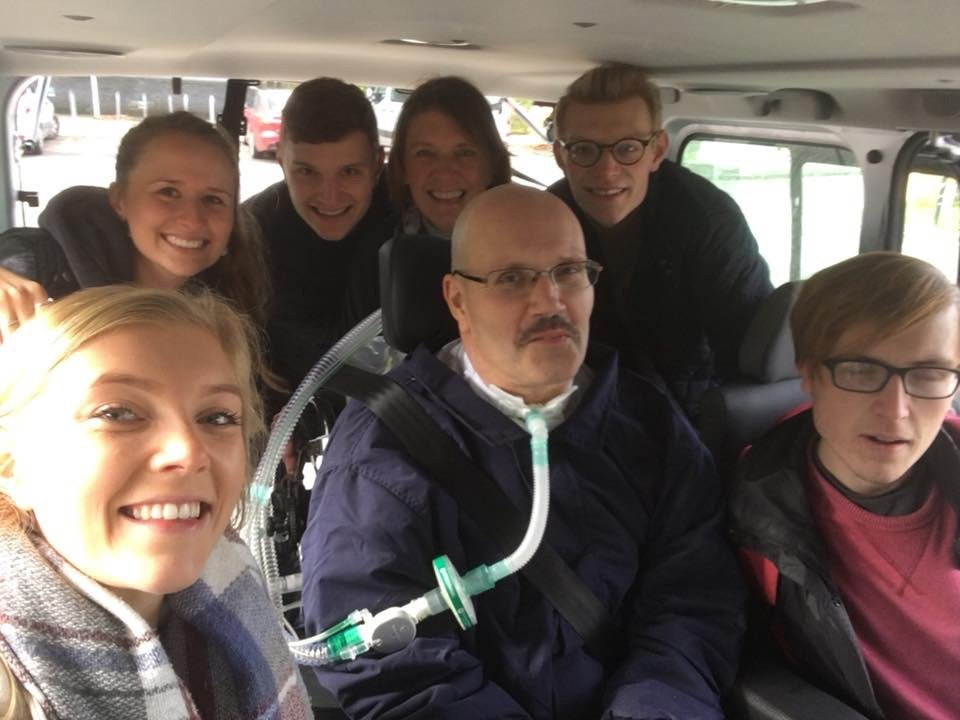 Harris family in car