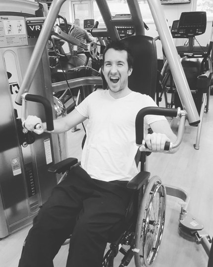 Sam in the Aspire Leisure Centre gym