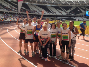 Team Mags on the track at the Olympic Stadium