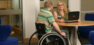 Independent Living Advisor with client