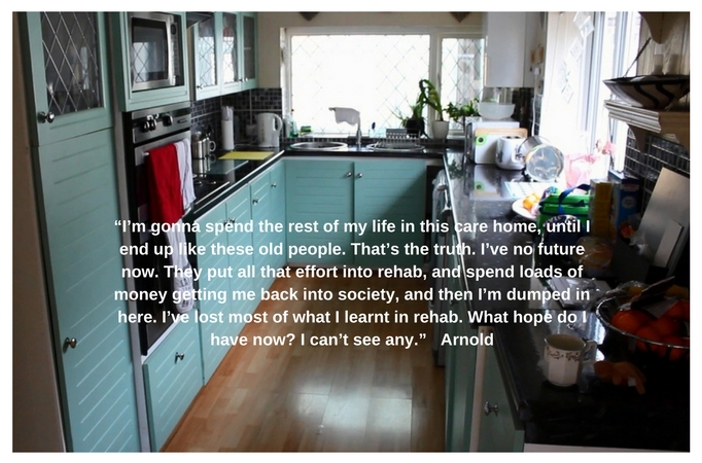 Picture of a kitchen with a quote by Andrew