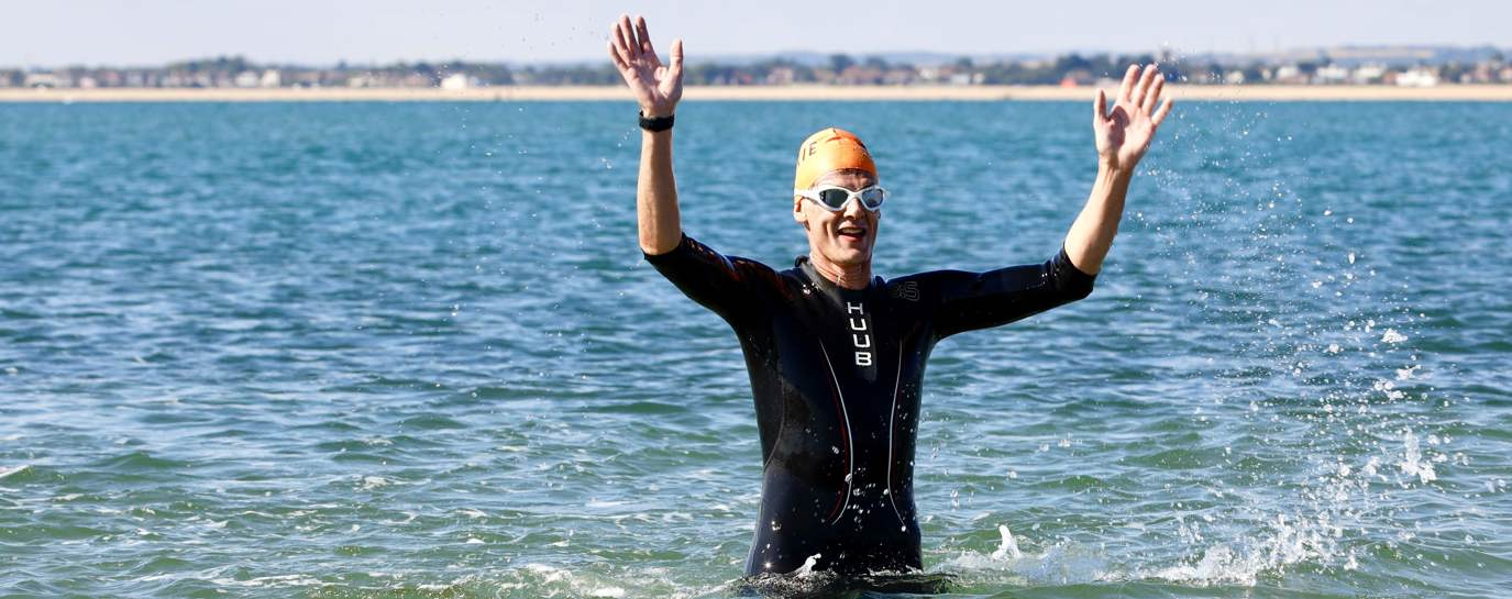 Sam takes on the challenge of swimming the Solent