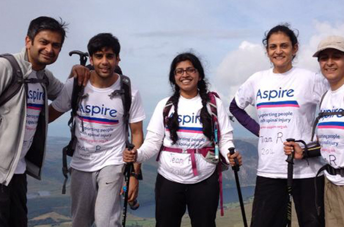 Five Aspire supporters taking part in the Three Peaks Challenge