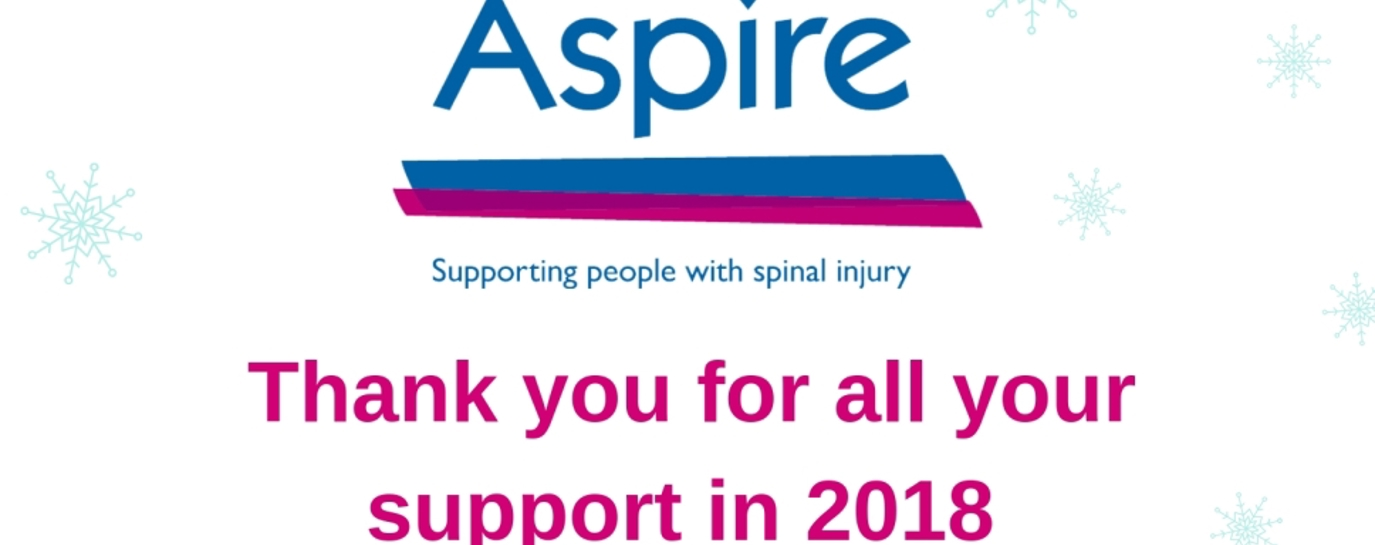 Aspire logo with thank you to our supporters