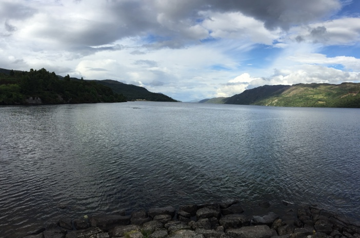 Panoramic view of Loch Ness