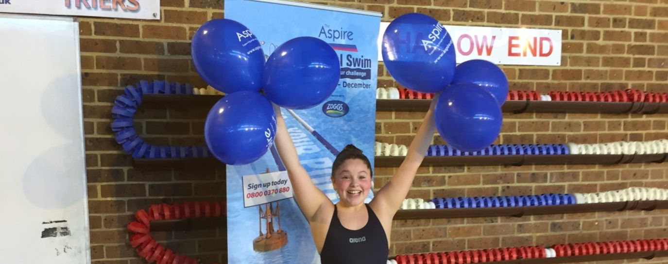Alexandra Gibbon becomes top fundraiser for Aspire Channel Swim