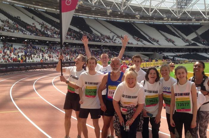 Aspire runners in the Olympic Park