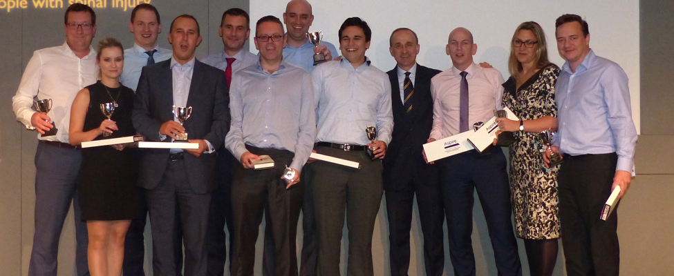 Winning team at the Manchester Sports Quiz Dinner