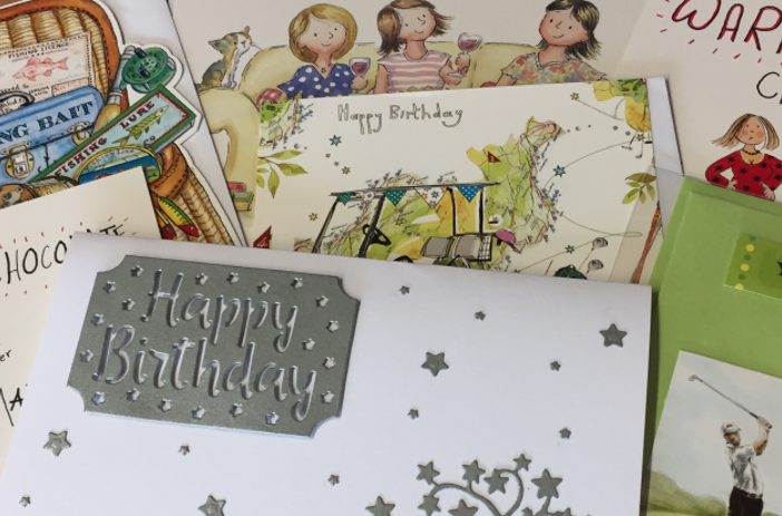 A selection of greetings cards