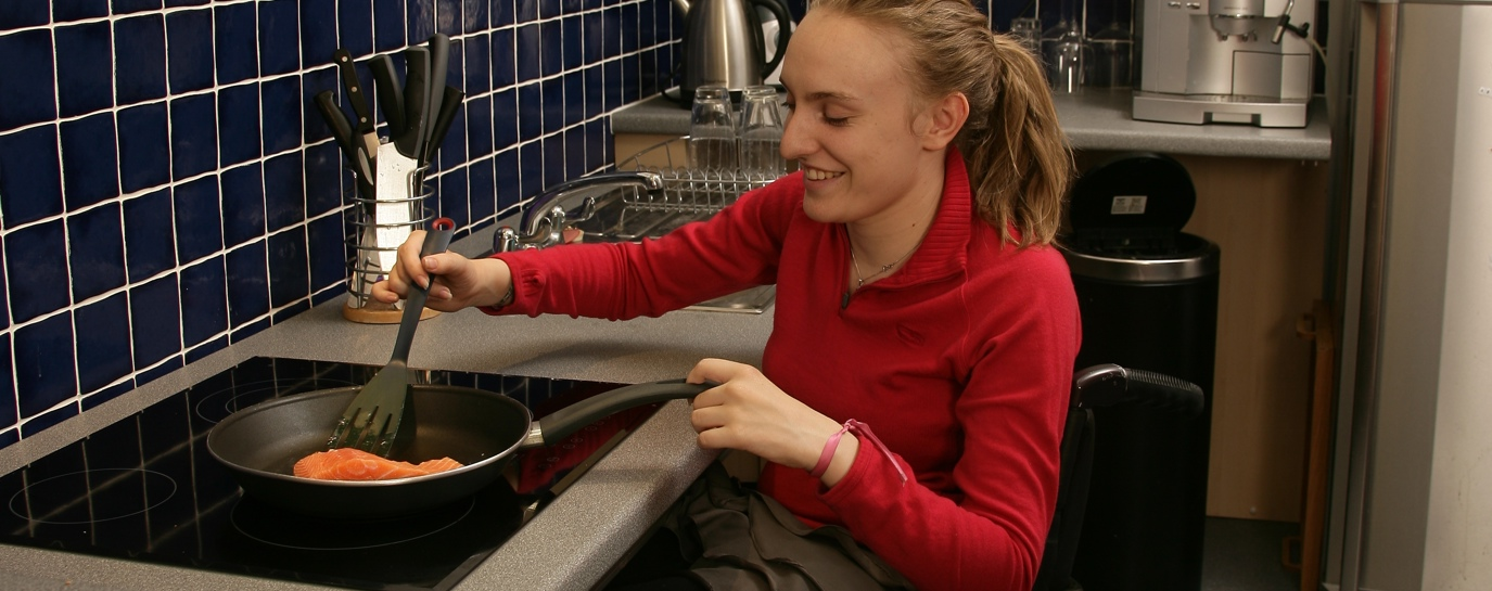 Cooking in an accessible house