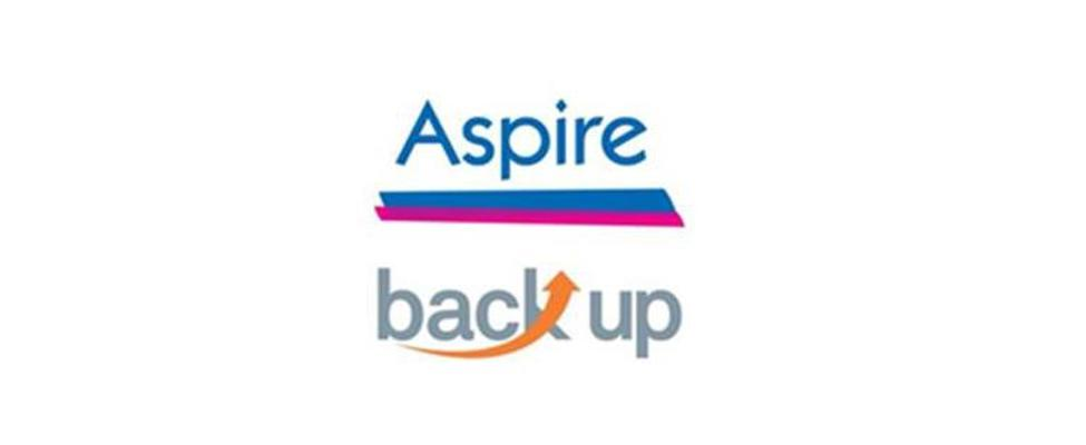 Aspire and Back Up logos