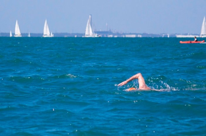 Swimmer in the Solent