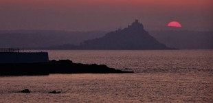 Dawn shot of Battery Rocks, Cornwall