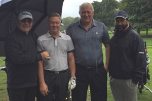 Winning team at the Aspire Golf Day