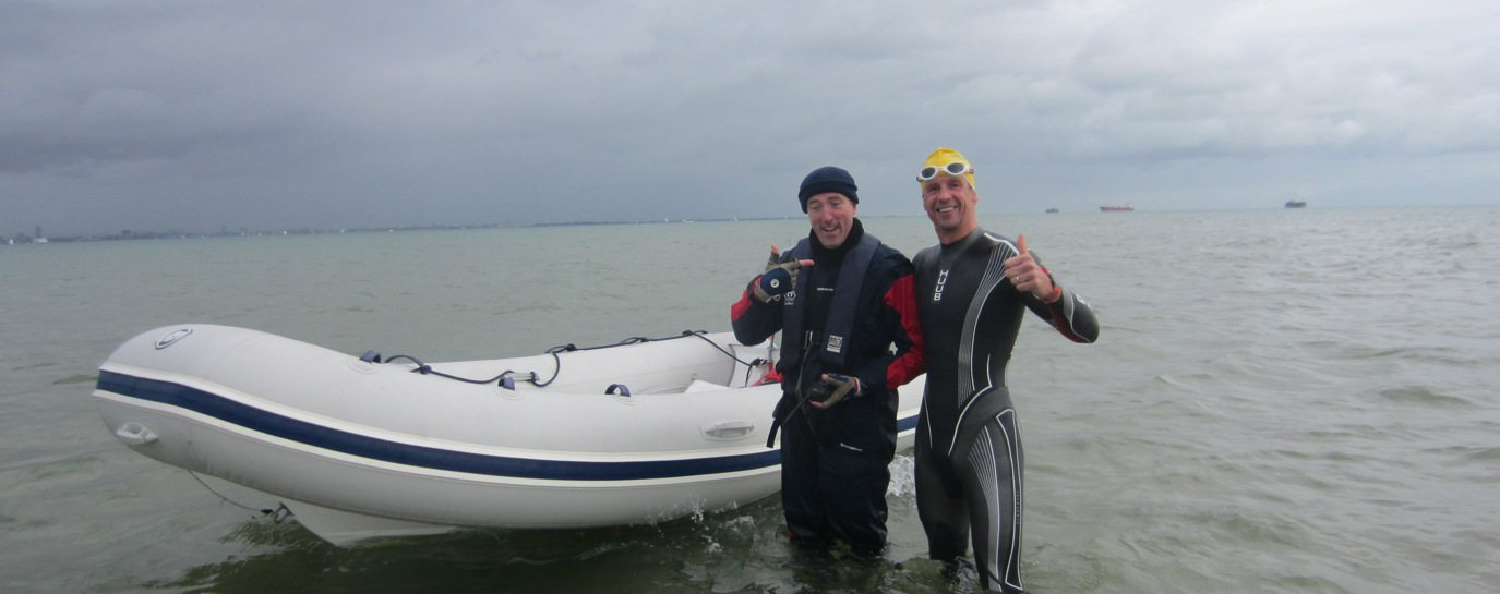 Greg Whyte on his two way Solent Swim