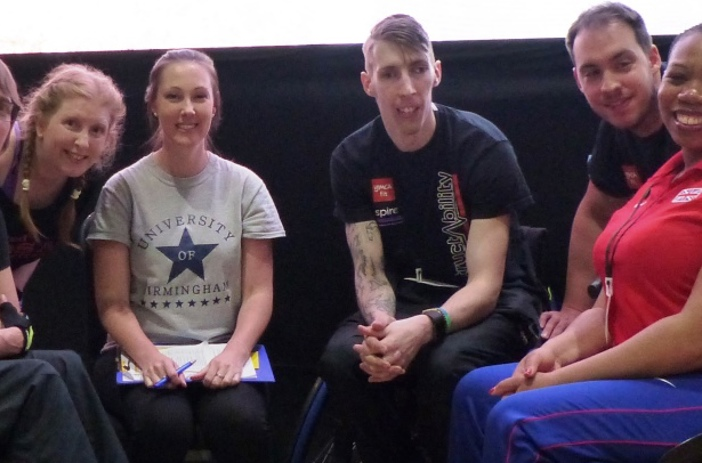 Dr Juliette Stebbings with disabled fitness professionals