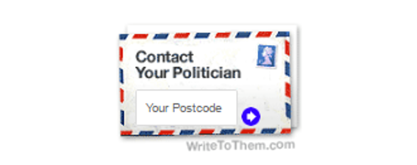 Write to your MP envelope image