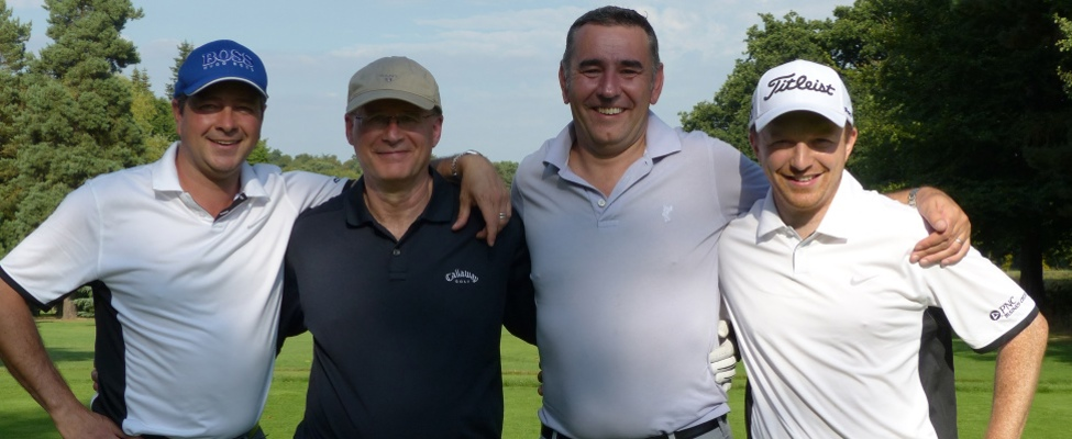 Golf day winning team