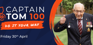 Take part in the Captain Tom 100 challenge for Aspire