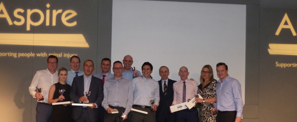 Winning team at the 2015 Manchester Sports Quiz Dinner