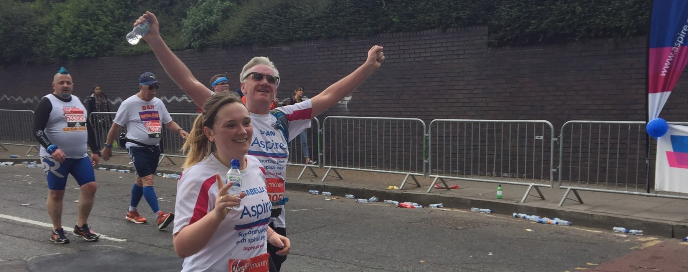 Izzy and Sean running the London Marathon