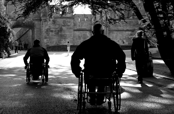 Wheelchair users at Alton Towers