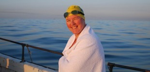 Julie is overcoming her fear of failure by swimming the Channel again