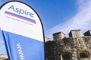 Aspire banner at the Tower of London